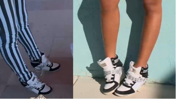 sneakers high sneakers shoes black wedges platform sneakers spiked shoes spikes studded white