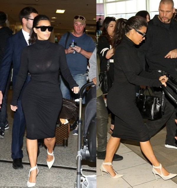 dress black little black dress kim kardashian shoes
