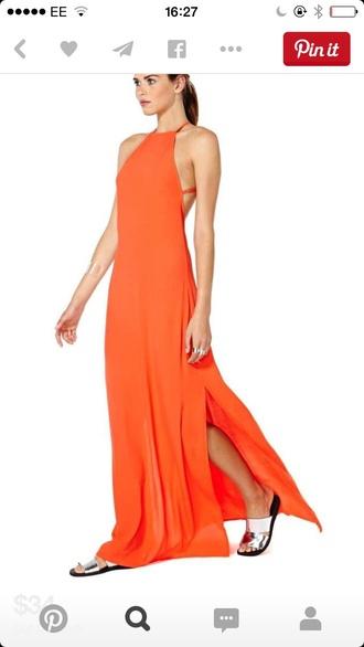 dress orange fashion maxi maxi dress style