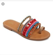 shoes,multicolor,flat sandals,strappy sandals,cute sandals
