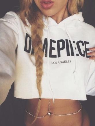 top crop top hoodie hoodie jewels