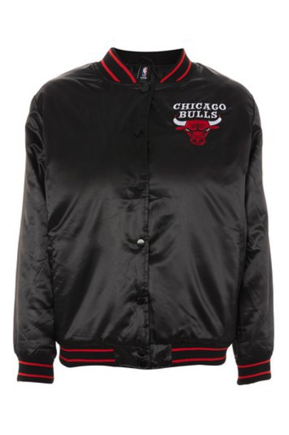Topshop jacket bomber jacket chicago black