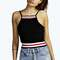 Darcy sport rib detail crop top
