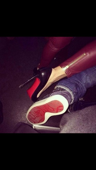 shoes christian louboutin sneakers 😝 red high heels
