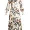 Orlena high-neck floral-print silk dress