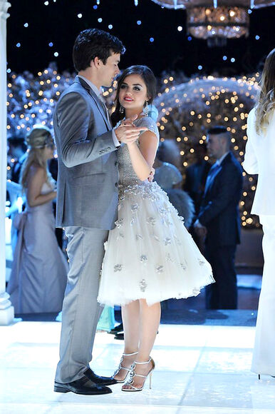 dress pretty little liars lucy hale aria montgomery ice ball gown