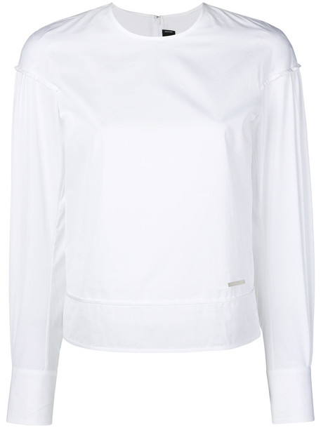 Dsquared2 top long women white cotton