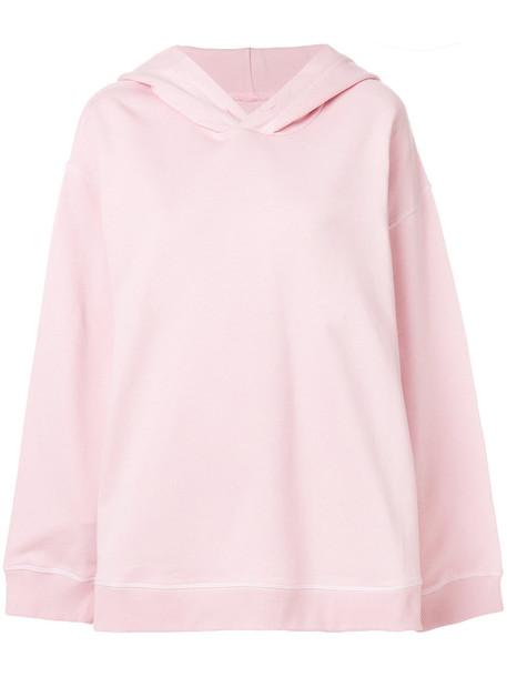 Mm6 Maison Margiela hoodie oversized long women cotton purple pink sweater