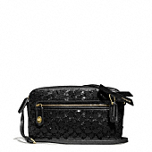 Coach :: POPPY FLIGHT BAG IN SEQUIN SIGNATURE C FABRIC