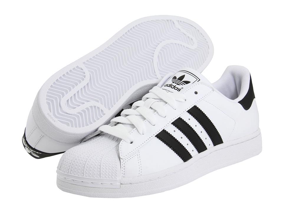 online retailer 5c070 db37b adidas Originals Superstar 2 White Black - Zappos.com Free Shipping ...
