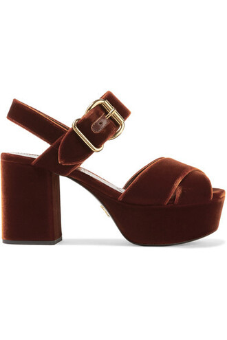 chocolate sandals platform sandals velvet shoes