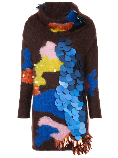 DELPOZO jumper long women mohair silk sweater