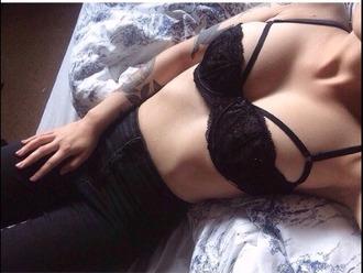 underwear bra grunge black hipster beautiful