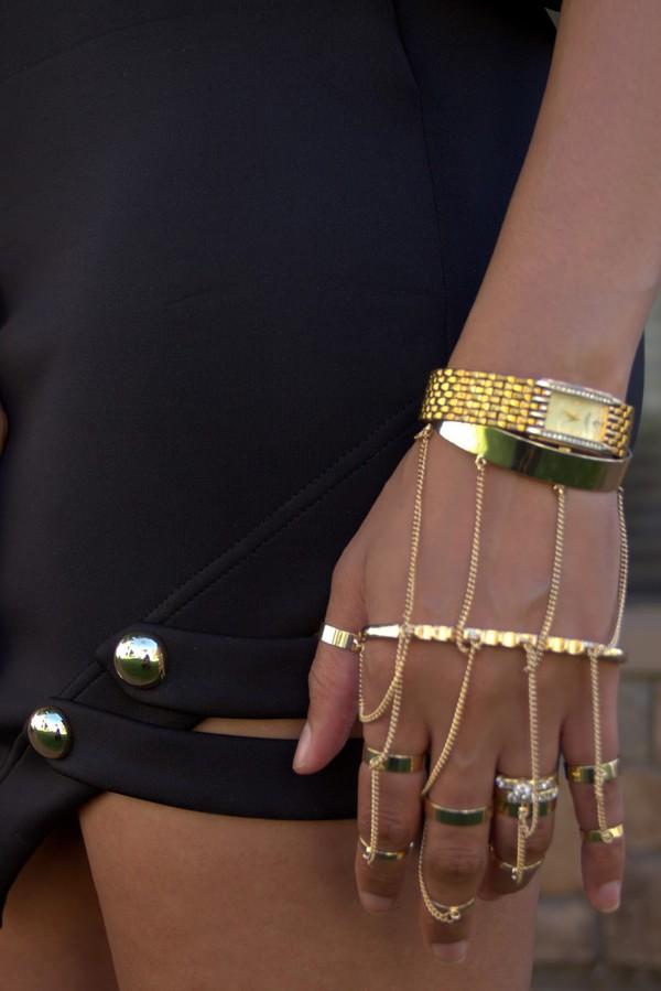 jewels knuckle ring cuff bracelet metallic gold bracelet chain boho jewelry