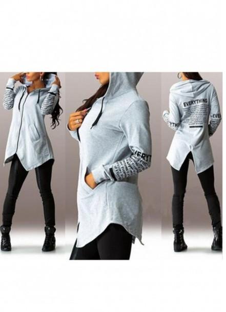 sweater girl girly girly wishlist hoodie grey zip