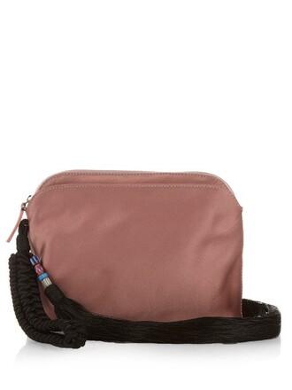 tassel clutch silk satin pink bag
