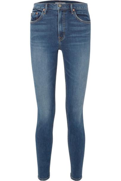 GRLFRND jeans skinny jeans denim high dark