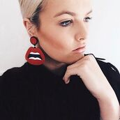 jewels,own saviour,mouth earrings,acrylic earrings,laser cut