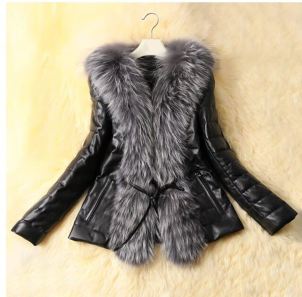 jacket black fur jacket