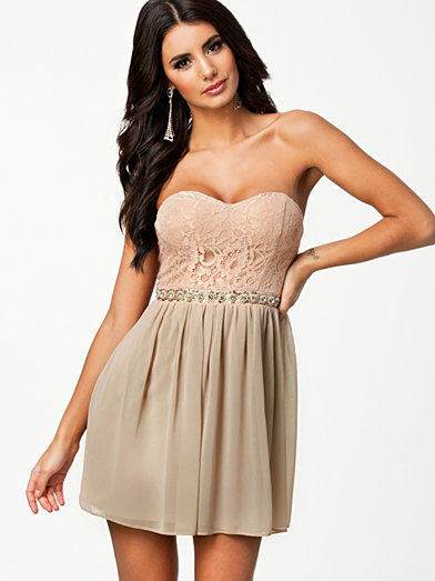 Lace Bustier Dress - Elise Ryan - Nude - Party Dresses - Clothing - Women - Nelly.com