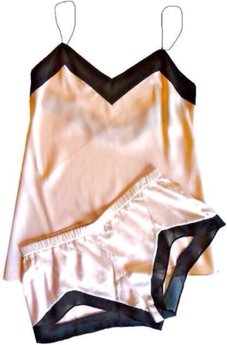 pajamas silk metallic pink black style fashion tank top shorts sexy dress underwear pants t-shirt shoes shirt pink dress two-piece black dress blouse black heels black jeans black bikini blazer black high waisted pants black t-shirt black crop top black leather skirt leggings leather jacket slit skirt skirt sunglasses sleepwear panties