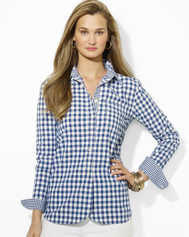 Lauren Ralph Lauren Shirt - Gingham Button Down | Bloomingdale's