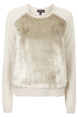 sweater faux fur cream topshop white sweater winter sweater texture