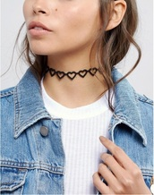 jewels,girly,heart cut out,heart,black,choker necklace