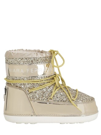 snow boots glitter snow boots gold shoes