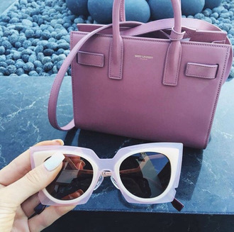 sunglasses kylie jenner instagram purse pink bag pink bag dusty pink pink sunglasses cat eye