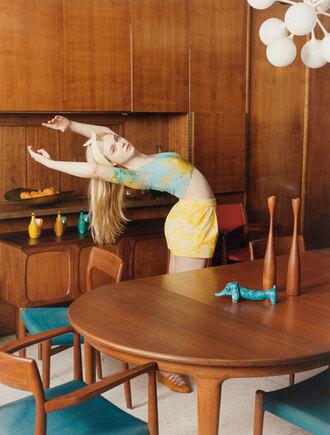 shirt blumarine magazine elle fanning editorial