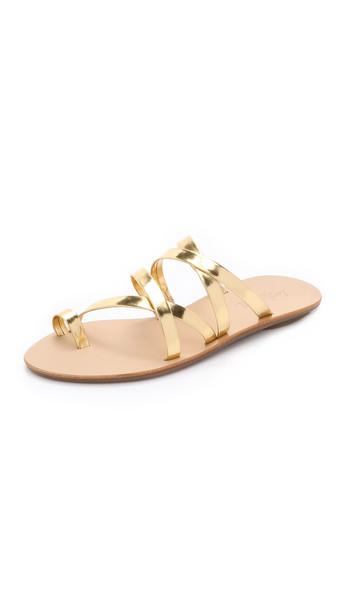 Loeffler Randall Sarie Sandals - Gold