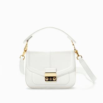 white bag bag handbag party bag going out