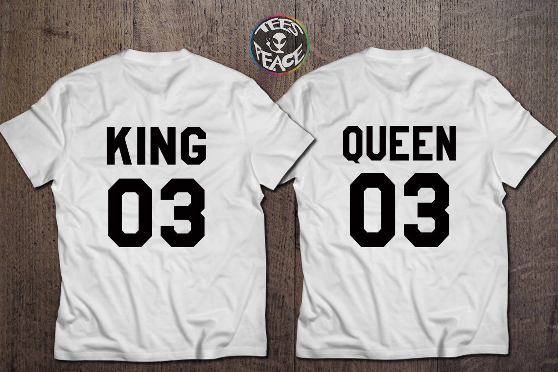Couple t shirt design white - King And Queen Couple The King His Queen King Queen Couple Shirts P Rchen Royals 100 Cotton T Shirts Custom Numbers