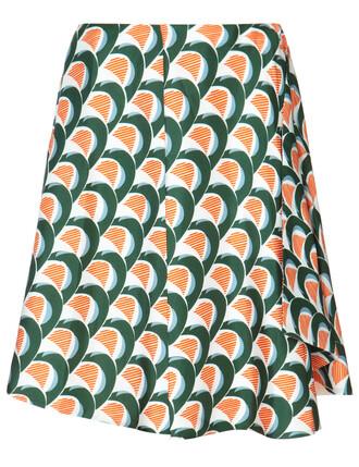 skirt silk green