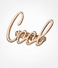 SCRIPT TWO FINGER RING - COOL | Express