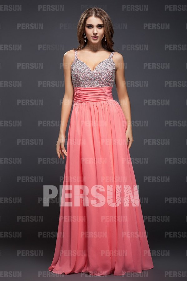 Attractive Sheath Beaded Sweetheart Chiffon Tencel Evening Dress [FCLA308306] - PersunMall.com