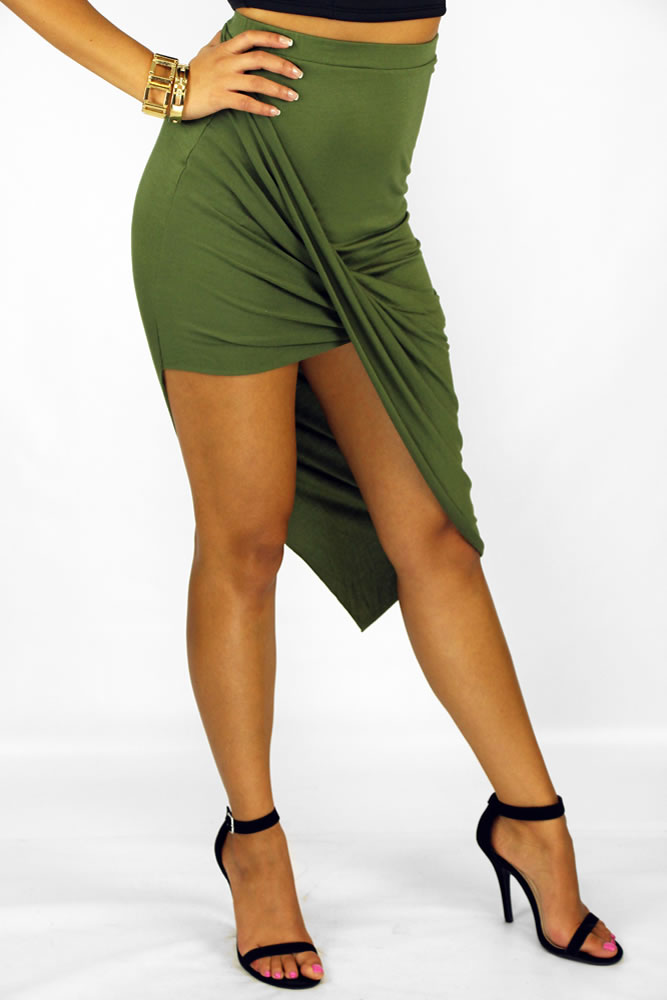Wrap Skirt - Olive @ LushFox.com :: Current Fashion Trends & Styles
