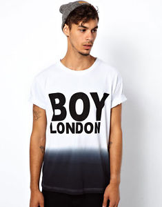 Boy London DIP Dye T Shirt New Size Large on Other Sites $70 White Black | eBay