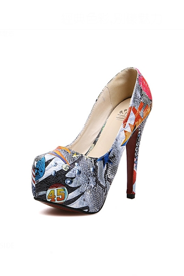 Personality Doodle Print Platform Shoes [FABI1447]- US$24.99 - PersunMall.com