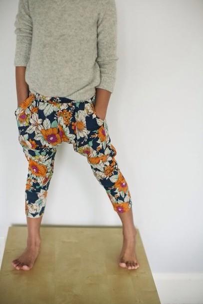 pants floral harem