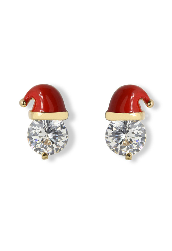 jewels crystal chiristmas cap earrings