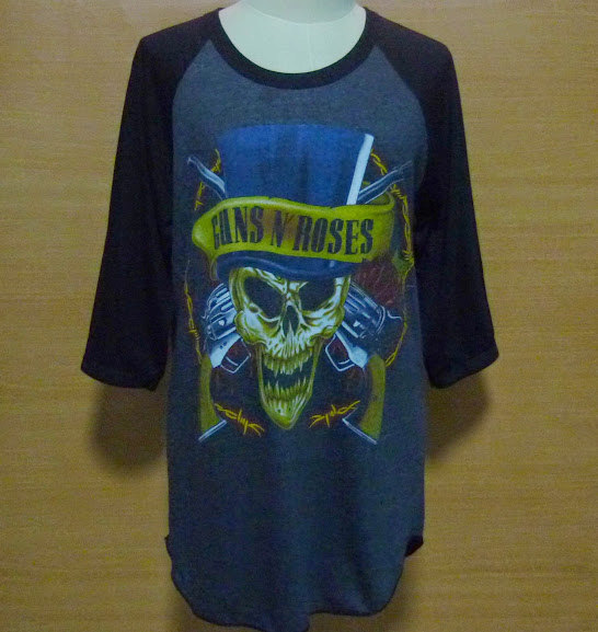 Shirt guns n roses vintage baseball tshirt guns n' roses tour shirt , large deadstock unisex men tee women s m l