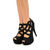 Cleo Cleo Black Cutout Caged Heels on Wanelo
