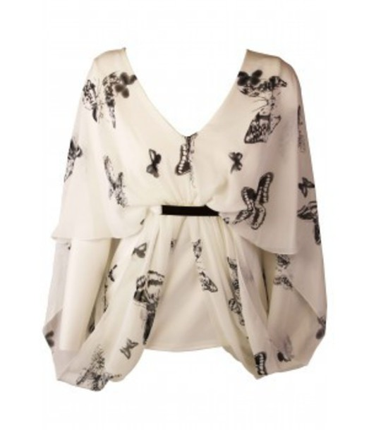 blouse butterfly butterfly blouse white blouse floaty floaty blouse v neck v neck blouse