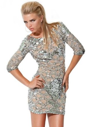 Amazon.com: Jovani 7749, Long-Sleeve Sequin Cocktail Dress: Clothing