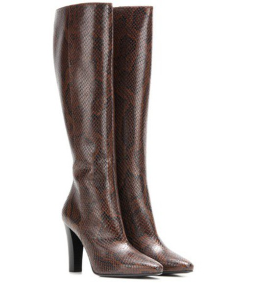 Saint Laurent boots leather brown shoes