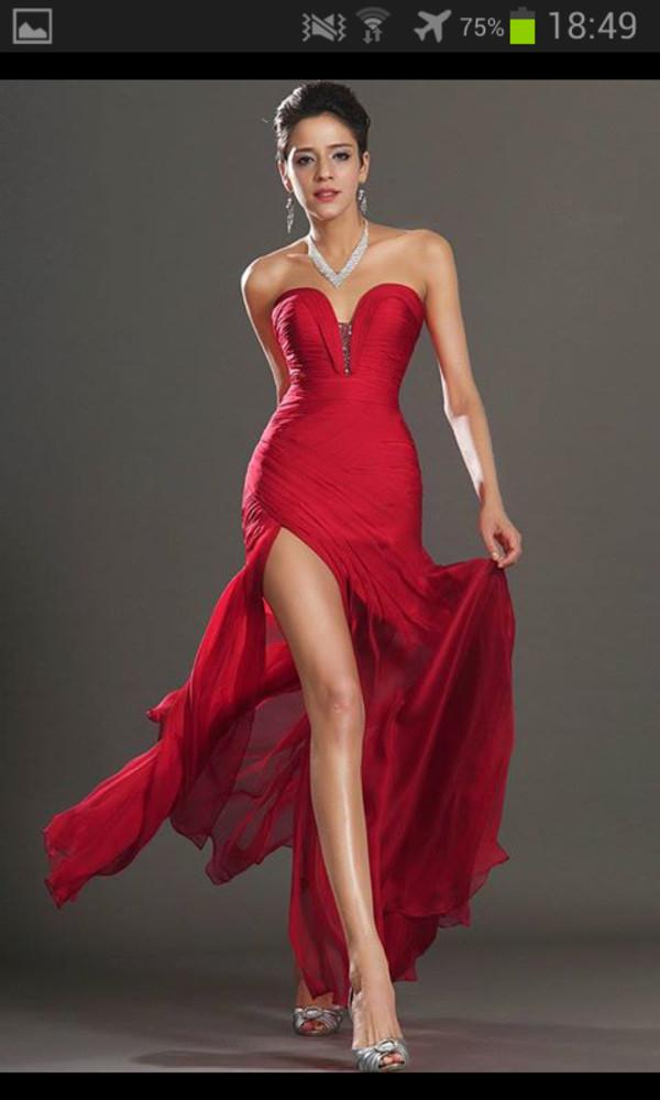redress legcutdress red dress