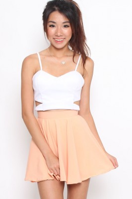 Petite skater skirt (peach) 3-pc price $16.00 | Mischief