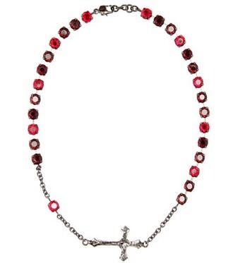 short necklace black jewels
